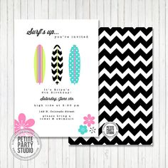 Surfer Girl Beach Party Printable Party by PetitePartyStudio, $15.00