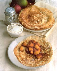 MARTHA STEWART - CARMELIZED APPLE CREPES - Be sure to choose crisp apples whose texture will stand up nicely as they are cooked. We used Mutsu, but Granny Smith also work well.