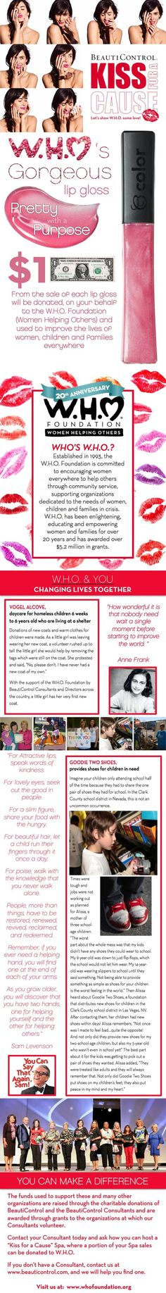 Who is W.H.O.? #BeautiControl W.H.O. (Women Helping Others) Foundation