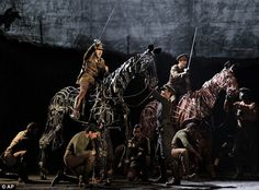 "War Horse in London. ""The concern you feel for the people and creatures in this scene is inescapable. Power fiction and illusion."" KB"