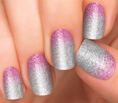 Purple Ombre Nails | Glitter Nail Designs | 1 Step Nail Art by Incoco - Incoco