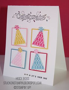 Stuck on Stampin': january 2012 card making night! this would be cute with christmas trees as well.