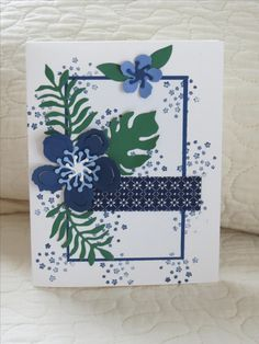 SU Botanical Builder dies; Botanical stamps by Stampin Up; cardstock from various companies