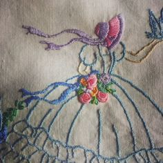 crinoline lady, handmade, embroidery, http://moniquesmess.blogspot.com.au/