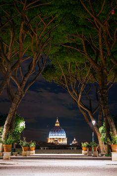 Saint Peter's basilica, Giardino degli Aranci, Rome, Italy by Joe Daniel Price