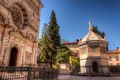 Entrance of the Basilica of Santa Maria Maggiore in #Bergamo, #Italy