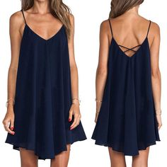 Sexy Women Sleeveless Party Dress Evening Cocktail Casual Mini Dress Fashion B9 #Unbranded #Shift #Casual
