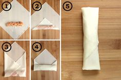 How to Fold Lumpia Wrappers | YummyAddiction.com barbarasangi