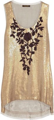 ShopStyle: Vineet Bahl Sequined crepe tank