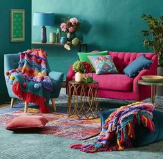 34 Charming Boho Living Room Decorating Ideas With Gypsy Style - boho decor diy Diy Wall Decor, Boho Decor, Bohemian Decorating, Tv Decor, Boho Chic Living Room, Gypsy Living, Living Room Decor Inspiration, Colourful Living Room, Colourful Home