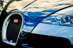 Bugatti Images by Jill Reger - Images of Bugattis - 2008 Bugatti Veyron Grille Emblem