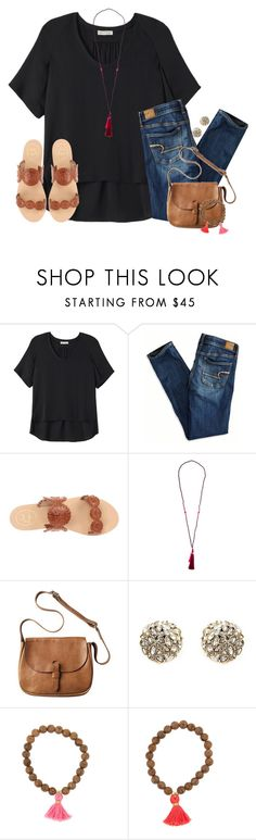 """""""The past is history, the future is mystery, and today is a gift. That's why we call it """"present""""."""" by katew4019 ❤ liked on Polyvore featuring Rebecca Taylor, American Eagle Outfitters, Jack Rogers, Toast and Alexis Bittar"""