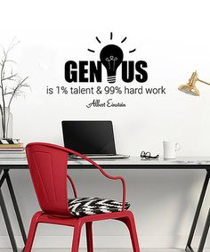 U0027Geniusu0027 Einstein Quote Wall Decal Set #zulilyfinds
