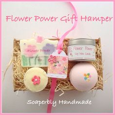 Gift Hamper, Rose and Jasmine fragrance, with Frankincense and Patchouli, Soap bar, bath bomb, soy wax candle, and bath truffle, by SoaperblyHandmade on Etsy