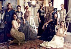 Michelle Dockery and Downton Abbey actresses star in Harper's Bazaar's August issue | Harper's Bazaar