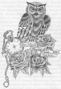 Owl Half-sleeve Design by Heavy-metal-ink.deviantart.com on @deviantART