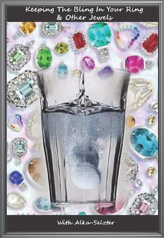 Antacid tablets work wonderfully to clean your jewelry, by Barbie's Beauty Bits