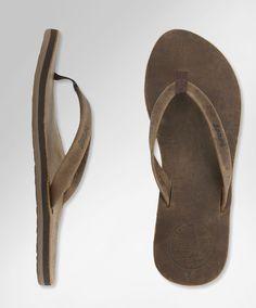 a99216f37da5 Girls Skinny Leather in brown Reef Flip Flops