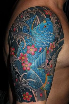 Traditional japanese tattoo of a koi fish by Rich Marafioti. Description from pinterest.com. I searched for this on bing.com/images