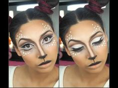 """Deer"" Halloween makeup transformation - EbonyMaizeMakeup - - YouTube More"