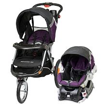 If I was smart, I would have bought something like this the first time rather than a Graco stroller.  It has a swivel front wheel (with the choice to lock it), inflatable tires, and can be pushed with one hand.