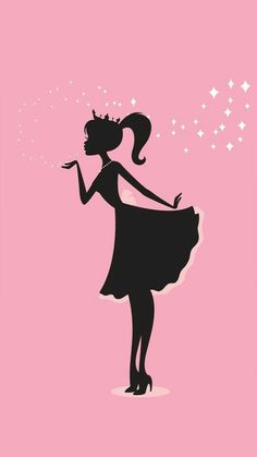 imagine if Barbie became a Disney Princess. Barbie Birthday, Barbie Party, Pink Love, Pretty In Pink, Vogel Silhouette, Silhouette Art, Barbie Mode, Everything Pink, My Favorite Color