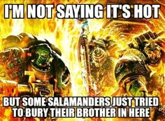 Is that like saying something got the Space Wolves drunk?
