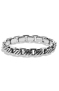 Men's David Yurman 'Modern Cable' Empire Link Bracelet - Silver