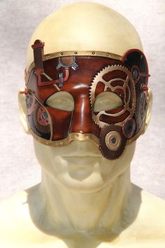 Leather Steampunk Mask. $150.00, via Etsy.