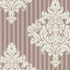 The Warner Studios Rowan Damask Stripe Wallpaper makes a bold accent wall or works well in a bedroom or living room. Wallpaper Online, Home Wallpaper, Rowan, Damask Stripe Wallpaper, Warner Studios, Futuristic Furniture, Interior Paint Colors, Designer Wallpaper, Wallpaper Designs