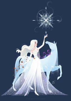 Disney Frozen 2 Die Eiskönigin Elsa Anna Arendelle Nokk into the unknown Elsanna Frozen Disney, Frozen Art, Film Disney, Disney Movies, Disney Crossovers, Elsa Frozen, Disney Stuff, Disney Princess Drawings, Disney Princess Art