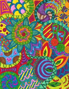 Psychedelic Jungle by Liquid-Mushroom.deviantart.com on @deviantART