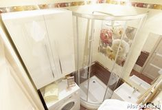 Дизайн маленькой ванной с душевой кабиной без унитаза