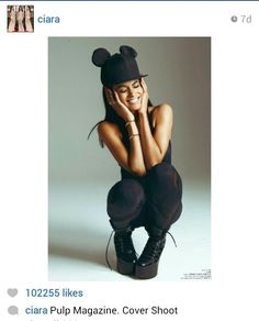 Ciara.  Mickey Mouse ears symbolize mind control.