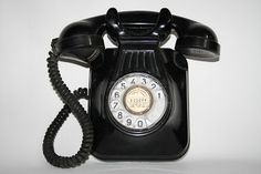 VintageDigger: Black Vintage Retro Analogue Wall Hanging Phone Ba...