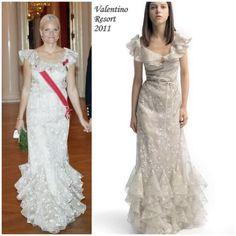 Crown Princess Mette Marit of Norway gown by Valentino Resort 2011