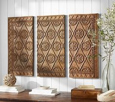 Carved Wood Triptych #potterybarn
