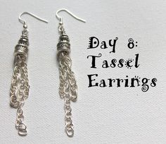 Wire Wrapping for Beginners Day 8:  Tassel Earrings.  I'm working my way through my own book, Wire Wrapping for Beginners one project at a time.  #wirewrapping #earrings #jewelrytutorial