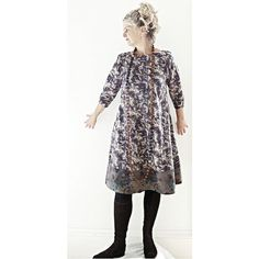 Abstract Charcoal Grey/Brown Liberty of London Cotton by 13threads