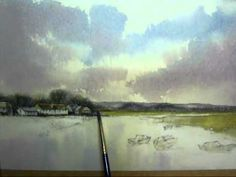 Beautiful Watercolor landscape demo by John Baxter         excellent!