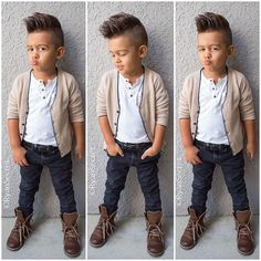 This Cool kids & boys mohawk haircut hairstyle ideas 24 image is part from 60 Awesome Cool Kids and Boys Mohawk Haircut Ideas gallery and article, click read it bellow to see high resolutions quality image and another awesome image ideas. Toddler Boy Fashion, Cute Kids Fashion, Little Boy Fashion, Toddler Boys, Little Boy Outfits, Toddler Outfits, Baby Boy Outfits, Boys Mohawk, Kids Mode