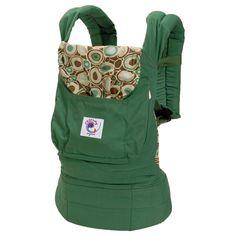 Ergobaby Organic Baby Carrier - Green w/River Rock Print Lining #registry