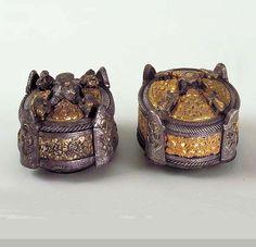 Box brooch Bronze, silver, gilded   Kullingbos, Källunge, Gotland, Sweden.