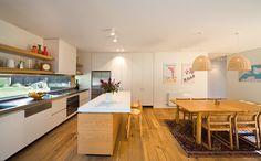 Plenty of space around the kitchen island bench