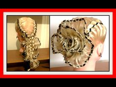 LACE BRAID ROSE HAIRSTYLE / HairGlamour Styles / Hairstyles - YouTube