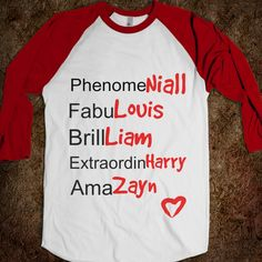 one direction t shirts