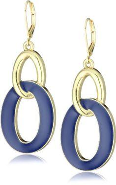 Anne Klein Gold-Tone Chain Drop Earrings - Anne, Chain, Drop, Earrings., GoldTone, Klein - http://designerjewelrygalleria.com/anne-klein-jewelry/anne-klein-gold-tone-chain-drop-earrings/