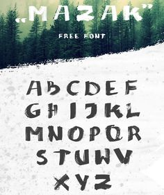 MAZAK Free Font Free Fonts AI Brush Free Graphic Design Hand-Drawn Handwriting Resource Typeface Typography Vector