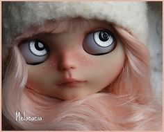 OOAK Artdoll Blythe Doll by Melacacia ~ Custom #161 ~ Winterberry ~ Pink Hair in Dolls & Bears, Dolls, By Brand, Company, Character | eBay