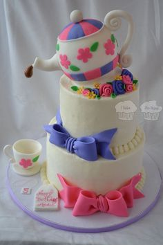 Tea Party!  Cake by susieqhomemaker